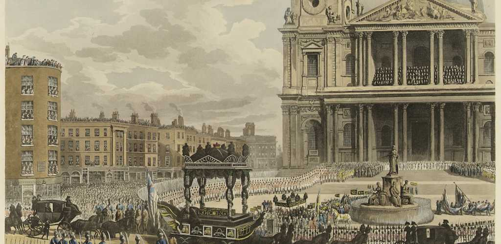 'Funeral Procession of the late Lord Viscount Nelson, from the Admiralty to St Paul's, London, 9th January 1806' PY7328_slider